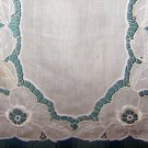 Antique  table mat whitework cutwork linen doily lovely hc1895