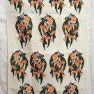 Flowering gum hand printed linen towel by Rodriguez vintage hc1935
