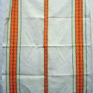 Vintage cotton towel woven orange stripes vintage hc1957