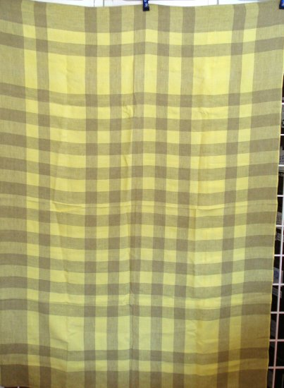 Eames era checkerboard tablecloth mint vintage linens hc1641