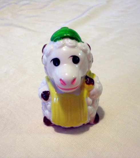 Baseball catcher tiny ram ceramic figurine cap chest protector cold paint vintage collectible hc2160