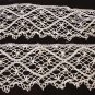 Bedfordshire Cluny lace edging handmade 64x4 inches antique hc2166