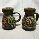 Italian hand painted ceramic salt pepper shakers made in Italy retro vintage kitchen hc2196
