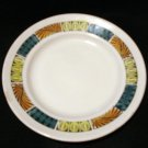 2 Pieces Kathie Winkle Mardi Gras retro ironstone Broadhurst cereal bowl bread plate hc2216