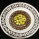 Kathie Winkle Lemon Grove bread butter plate retro Broadhurst ironstone vintage pottery hc2217