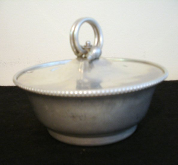 Buenilum aluminum covered dish for condiments or sauces Eames era vintage hc2257