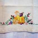 Embroidered huck linen hand towel southern belle vintage hc2271