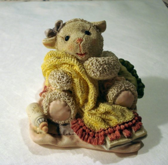 Snuggle Buddies Lovey Lamb figurine hand painted limited edition hc2346