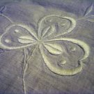Ayrshire whitework embroidered pillow cover or tablecloth shamrocks antique hc2394