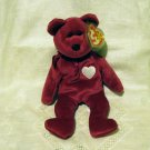 Valentina 1998 Teddy bear Ty Beanie Baby toy retired mint hc2397