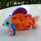 Lips the bright colored fish Ty Beanie Baby toy retired mint hc2514