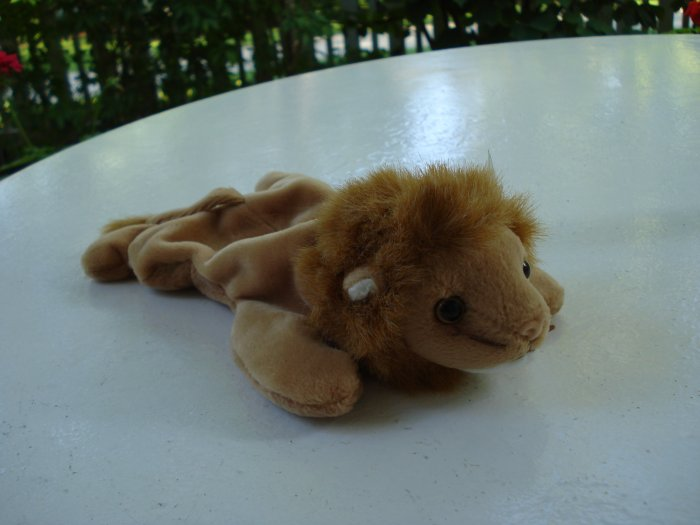 Roary the lion Ty Beanie Baby toy retired mint hc2524