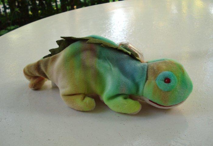 Iggy the pastel iguana Ty Beanie Baby toy retired mint hc2525