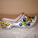 Deruta Italy handpainted ceramic clog or wooden shoe faience as new hc2559