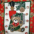 Cheery Christmas cotton kitchen towel toy soldier teddy gift ornaments vintage hc2573