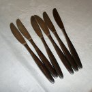 6 WMF stainless dinner knives Frostfire pattern excellent vintage hc2576