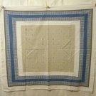 Eames era menswear print tablecloth classic 1950s vintage linens hc1335