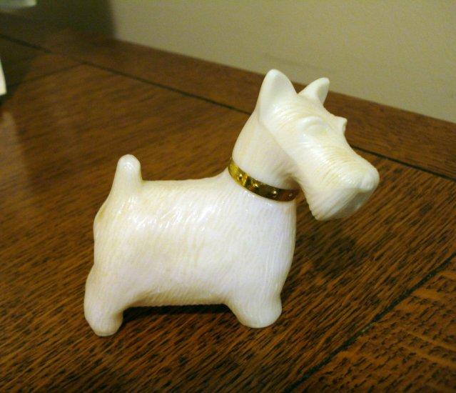 Avon Westie or Scottie dog perfume bottle white used hc2623