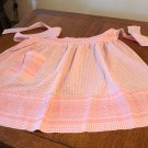 Tangerine embroidered gingham check apron hostess style perfect vintage hc2649
