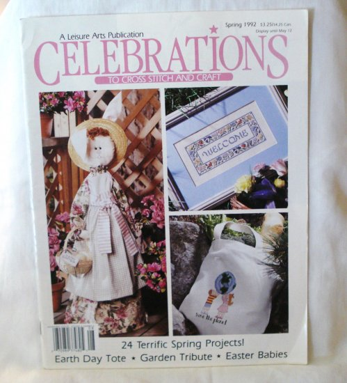 Celebrations to cross stitch and craft magazine 24 projects Spring 1992 hc2664