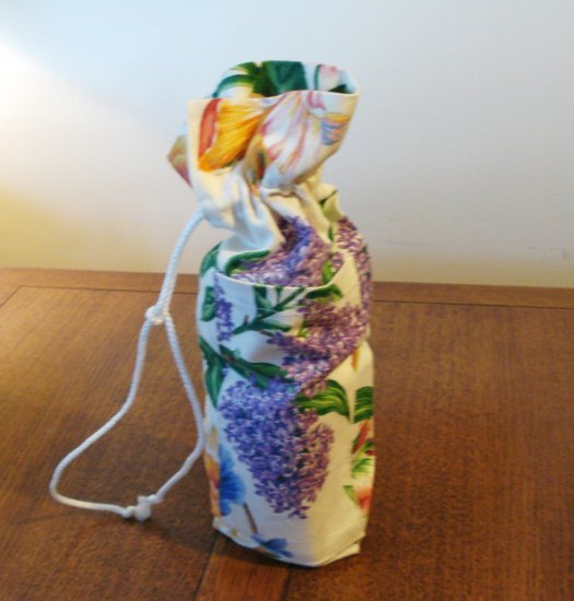 Bring your own wine bottle bag with bonus cork screw hyacinths irises preowned hc2675