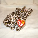 Freckles the leopard 1996 Ty Beanie Baby toy retired mint hc2696