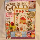 Cross Stitch Gold pattern book Oct 2009 strawberries poppies clean back issue 12 hc2718