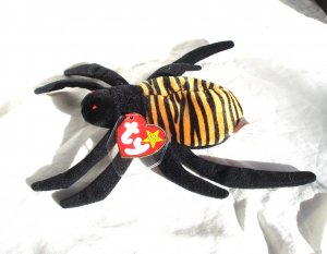 Spinner the spider Ty Beanie Baby toy 1996 retired mint hc2853