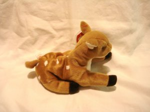 Whisper the deer or fawn Ty Beanie Baby toy 1997 retired mint hc2870
