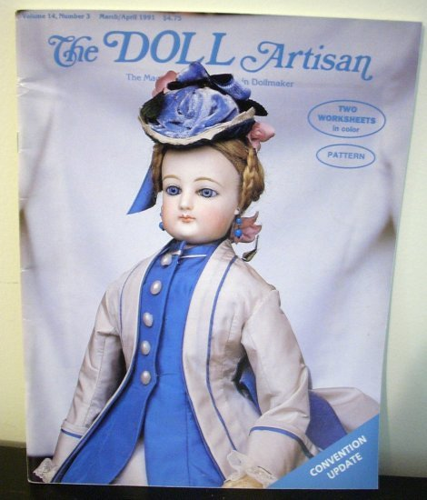 5 The Doll Artisan magazines June 1987 to Aug 1991 back issues hc2890
