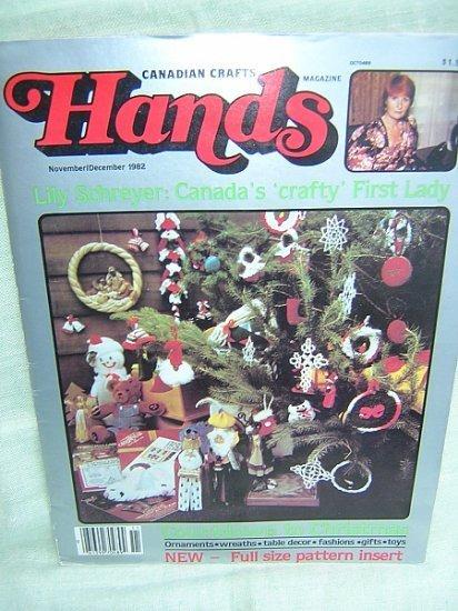 HANDS a Christmas craft book 1982 Can. Crafts Magazine hc2891