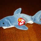 Crunch the shark 1996 Ty Beanie Baby toy retired mint hc2895