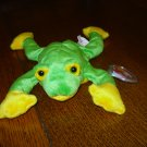 Smoochy the frog 1997 Ty Beanie Baby toy retired mint hc2899