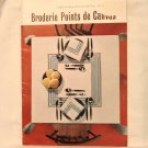 Needlepoint booklet in French Broderie Points de Canvas en francais hc2745
