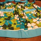 VHY Hawaiian Textiles apron flower power turquoise hostess pockets unused hc2914