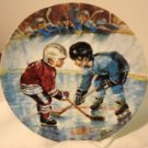 The Face-Off Stewart Sherwood pee-wee hockey ltd ed plate 1989 signed numbered mint vintage hc2918