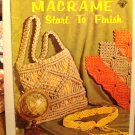 Macrame Start to Finish 1971 instruction magazine vintage hc2946