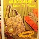 Macrame Start to Finish 1971 instruction magazine vintage hc2946