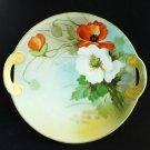 Nippon Morimura anemone porcelain plate with handles antique hc2953