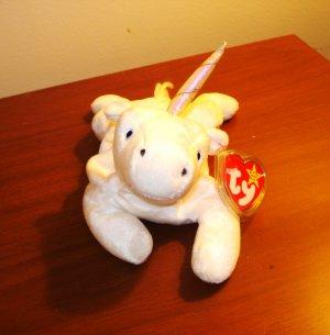 Mystic the white unicorn 1994 Ty Beanie Baby toy retired mint hc2955