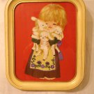 Embroidered boucle picture Mary and her lambs framed AL1035