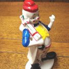 Flambro cold painted clown figurine red hat and umbrella porcelain vintage hc3275