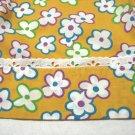 Mod floral half apron vintage mid century eyelet trim excellent hc3281