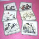 Pimpernel 6 drink coasters water fowl signed R G Lowe hc1435