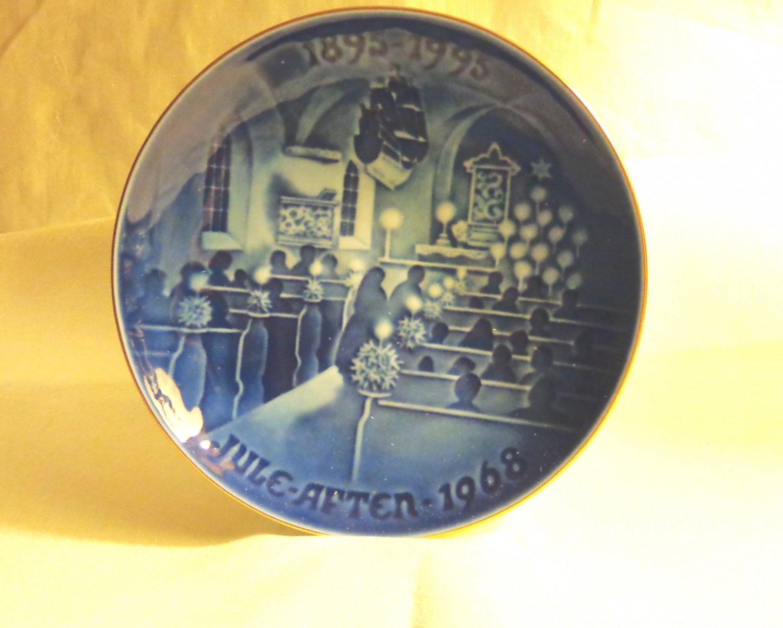 Bing and Grondahl 1968 100th anniversary plate Christmas Eve in Church BG porcelain hc3404