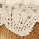 Crocheted filet lace lace trim handmade white 40 inches long 3 inch wide hc3422