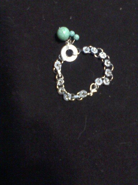 """""""Turquoise Beauty"""" Hardware Bracelet"""