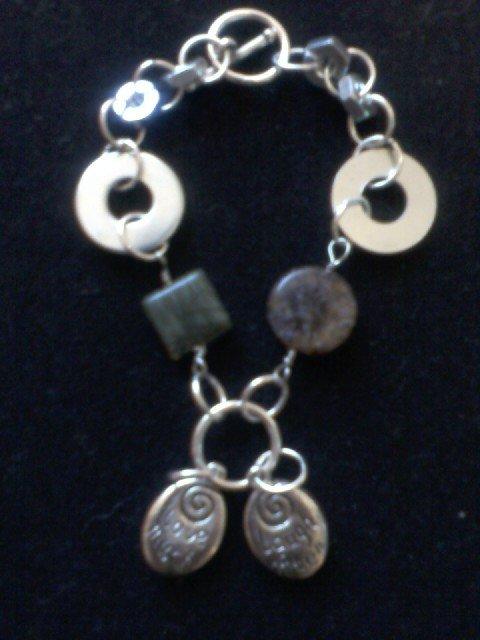 """Laugh Often, Love Much"" Recovery Inspired Hardware Bracelet"