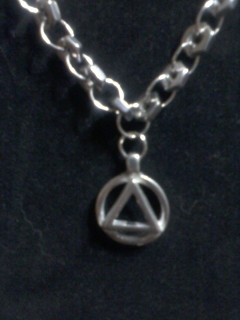 """AA Triangle of Unity"" Hardware Necklace Silver"