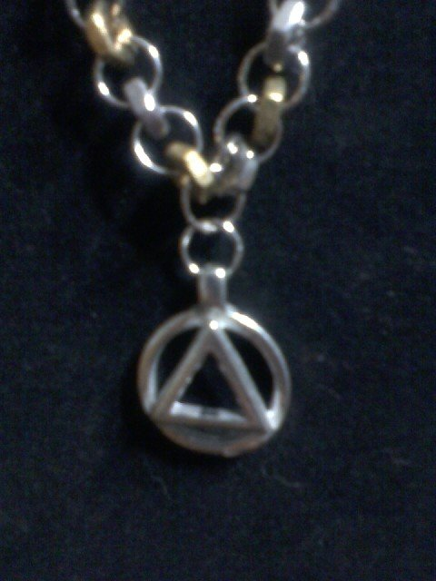 """AA Unity"" Hardware Necklace Silver and Gold"